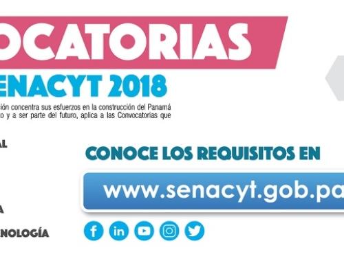 La SENACYT anuncia nuevas convocatorias públicas abiertas para el fomento de la ciencia y la tecnología